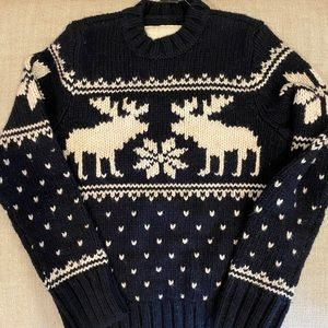 abercrombie kids Navy Holiday Sweater S